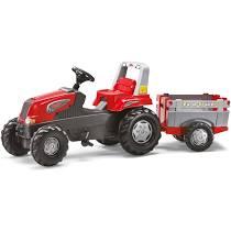 Tractor cu pedale si remorca Rolly Toys Junior