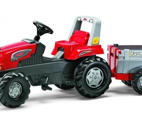 Tractor cu pedale si remorca Rolly Toys Junior