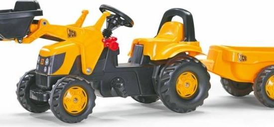 Tractor Cu Pedale Si Remorca Copii ROLLY TOYS 023127 Galben