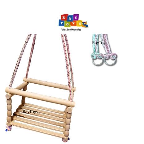 Leagan pentru copii din lemn Natur