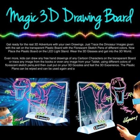 tabla-de-desen-magica-cu-dinozauri-efect-3d-si-ochelari