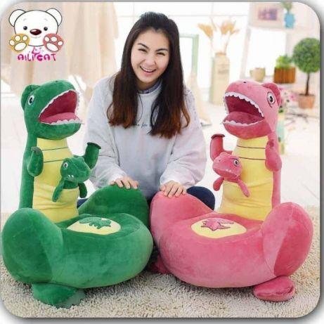 Fotoliu copii Dinozaur mama și puiul