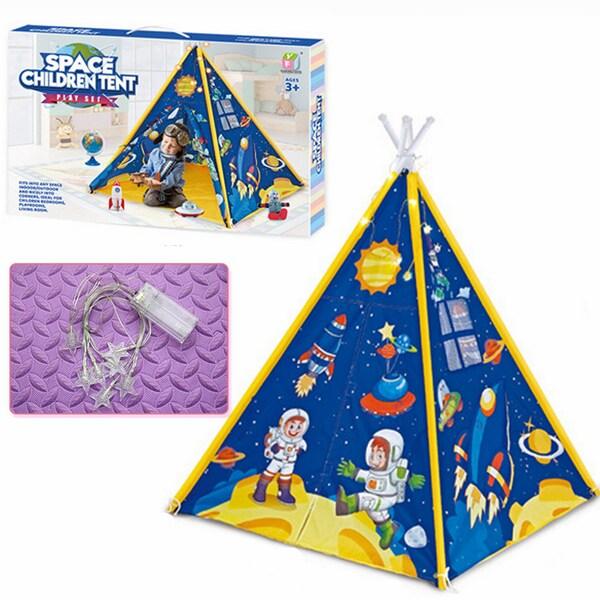 Cort de joaca cu lumini LED Tip Indian copii Spatial