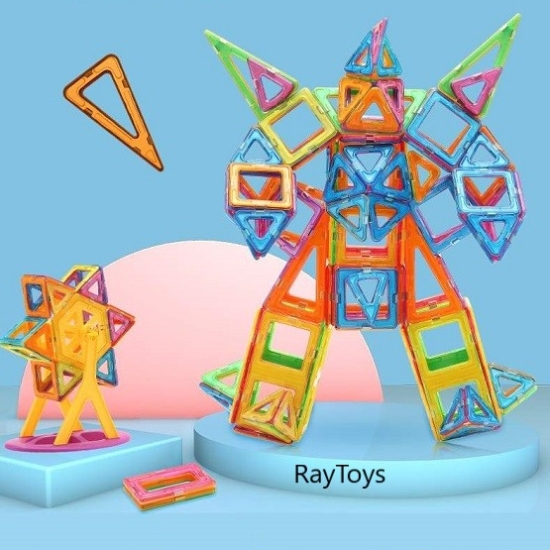 Forme geometrice magnetice Cuburi Magformers 51 piese