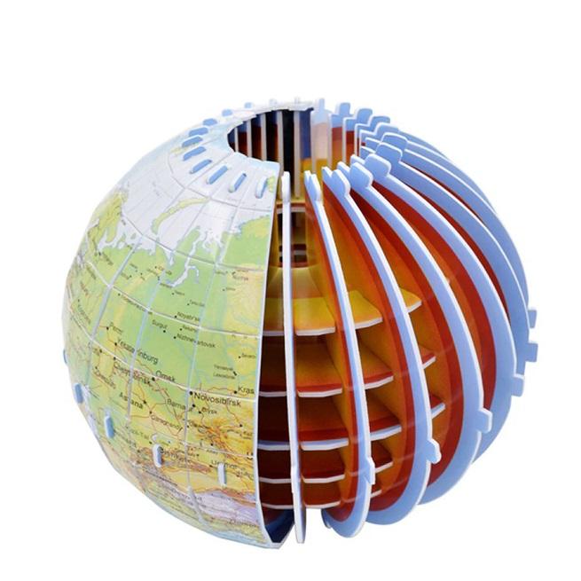 Puzzle 3D Montessori Globul pamantesc 49 piese copii
