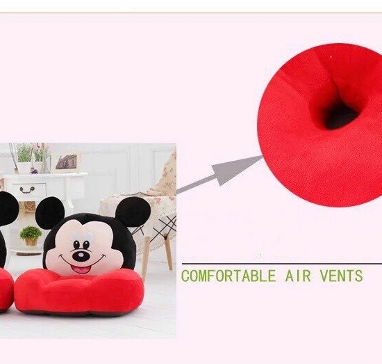 Fotoliu din plus copii Minnie si Mickey Mouse