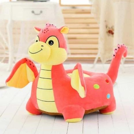 Fotoliu din plush Dragonul Roz