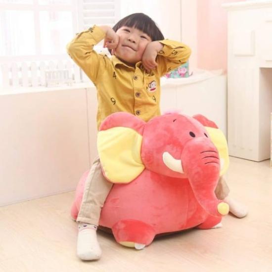 Fotoliu din plush Elefant de calarit