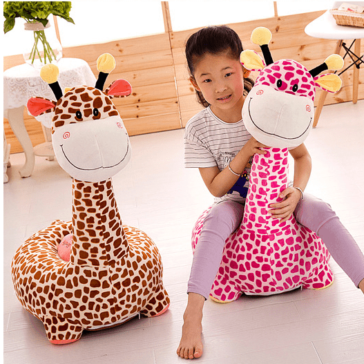 Fotoliu din plush Girafa de calarit