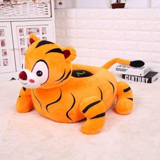 Fotoliu din plush pentru copii Tigru