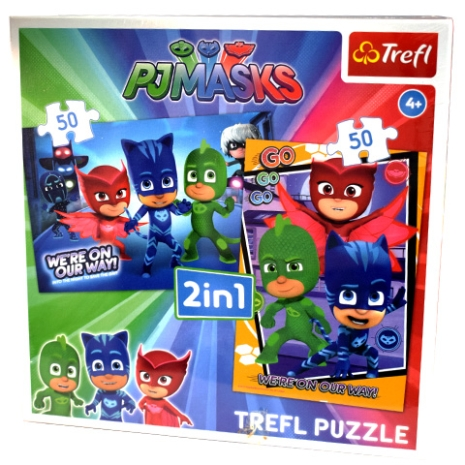 Puzzle Trefl 2/1 Eroii in pijamale