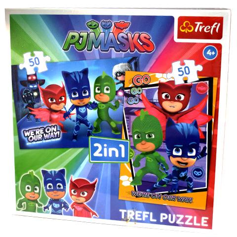 Puzzle Trefl 2/1 Eroii in pijamale