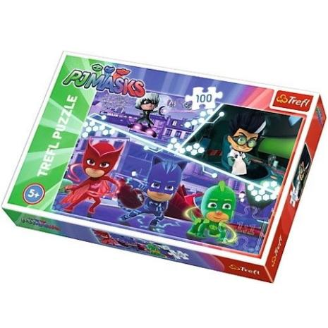Puzzle Trefl Eroii in pijamale 100 pcs