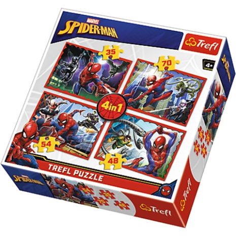 Puzzle Trefl 4 in 1 Spiderman