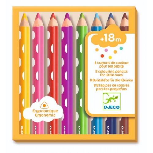 Set 8 crioane colorate bebe Djeco