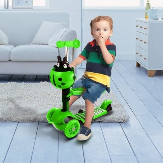Trotineta copii cu scaun model Buburuza vesela 5 in 1