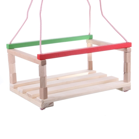 Leagan pentru copii Rosu din lemn natur reglabil 1007