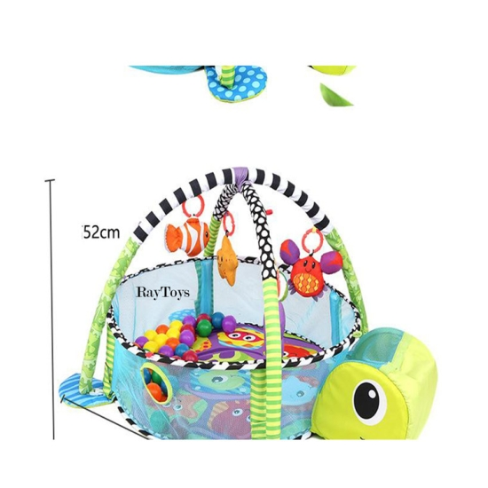 Saltea activitati bebe si centru de joaca cu bile 3 in 1