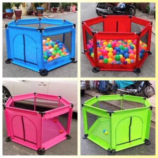 Tarc de joaca cu 50 bile colorate bebelusi Trambulina