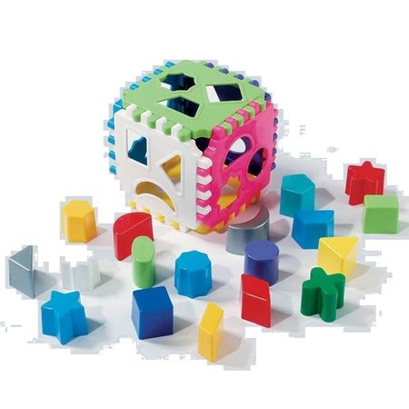 Cub potrivire forme geometrice ,Dohany Toys,18 piese