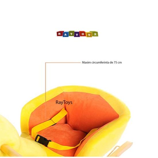 Balansoar din plus pentru copii tip Ratusca 2 in 1 cu sunete