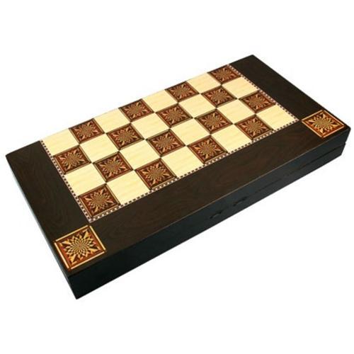 Joc 2 in 1 Table si dame din lemn lucios