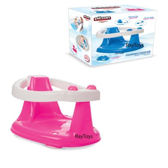 Scaunel de baie pentru bebe cu jucarie Pilsan