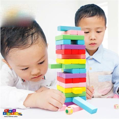 Joc-educativ-copii-Blocul-din-lemn-Colorat-54pc