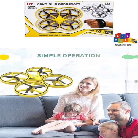 Jucarie-RC-Drona-cu-telecomanta-tip-ceas-control-mana