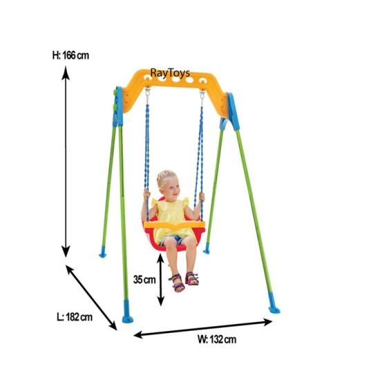 Leagan-pentru-copii-cu-cadru-metalic-mare-Pilsan