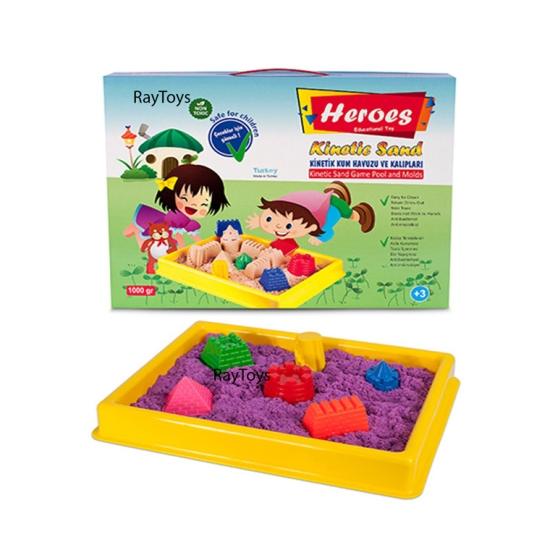 Nisip-Kinetic-1kg-cu-forme-pentru-copii-Heroes