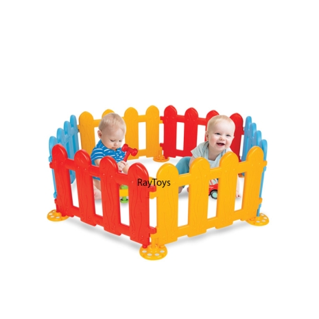 Tarc-de-joaca-bebe-tip-gradina-6pc-colorat-Pilsan