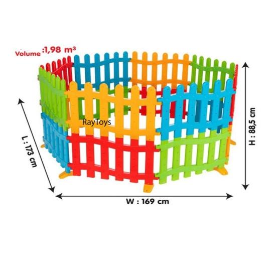 Tarc-de-joaca-bebe-tip-gradina-colorat-Pilsan1