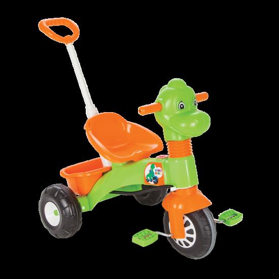 Tricicleta cu pedale si control parental Dino Pilsan