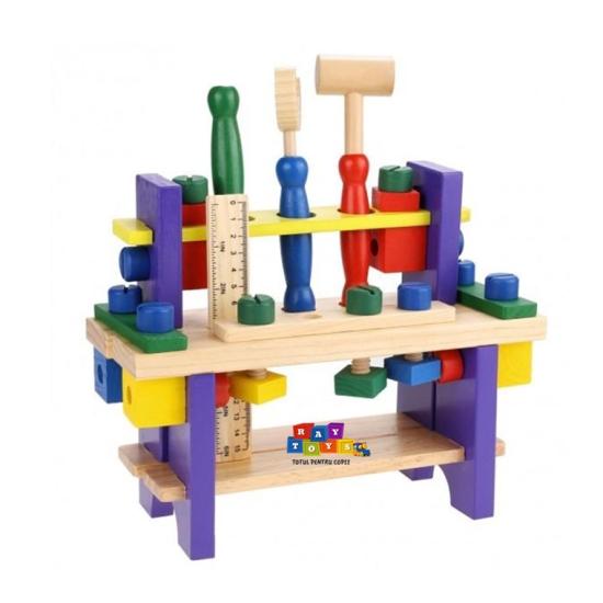 Banc-de-scule-din-lemn-pentru-copii-Asamblare