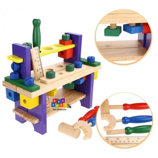 Banc-de-scule-din-lemn-pentru-copii-Asamblare4