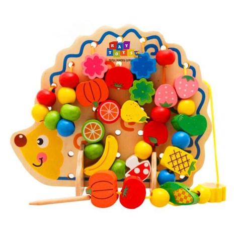 Jucaria-montessori-din-lemn-Ariciul-de-snuruit-fructe-82pc