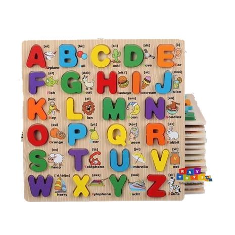 Puzzle-din-lemn-3D-Alfabet-A-Z-cu-imagini