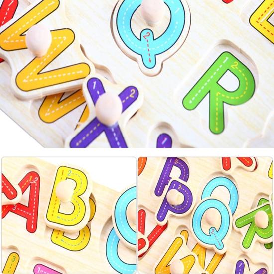Puzzle-din-lemn-incastru-cu-butoni-Alfabet-A-Z1