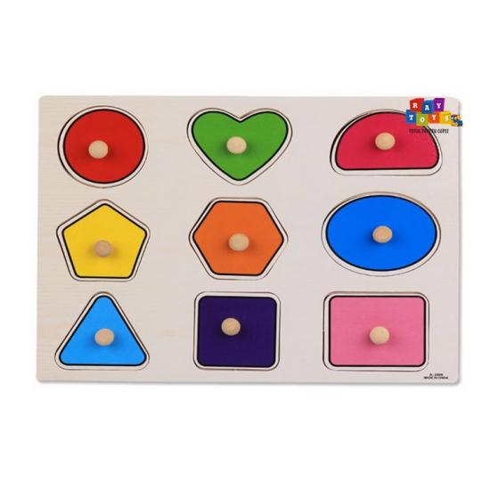 Puzzle-din-lemn-incastru-cu-butoni-Forme-colorate