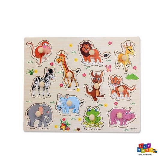 Puzzle-din-lemn-incastru-cu-butoni-Maimuta