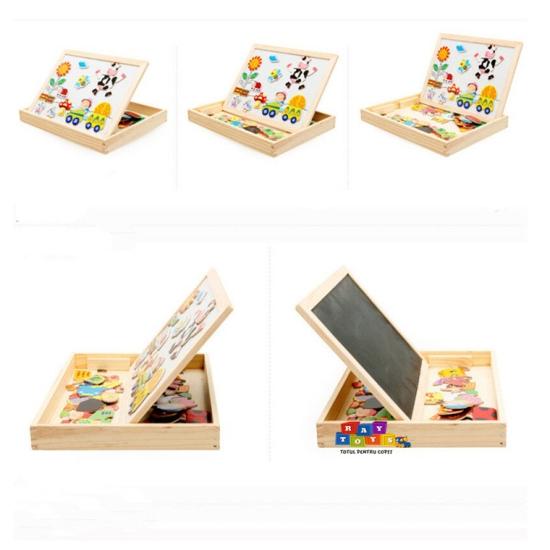 Tabla-magnetica-din-lemn-cu-puzzle-si-desen-3-in-13