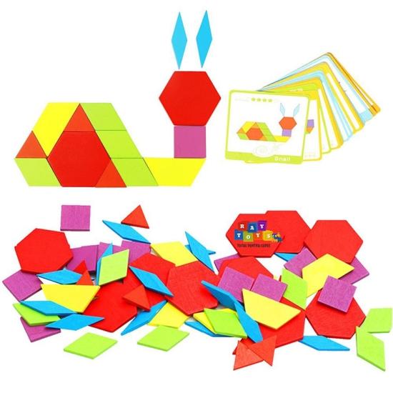 Tangram-copii-130pc-din-lemn-forme-geometrice1