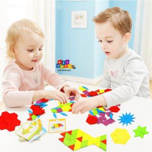 Tangram-copii-130pc-din-lemn-forme-geometrice2