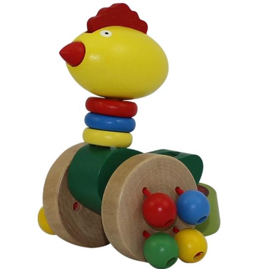 Jucarie de impins pentru copii animalute din lemn