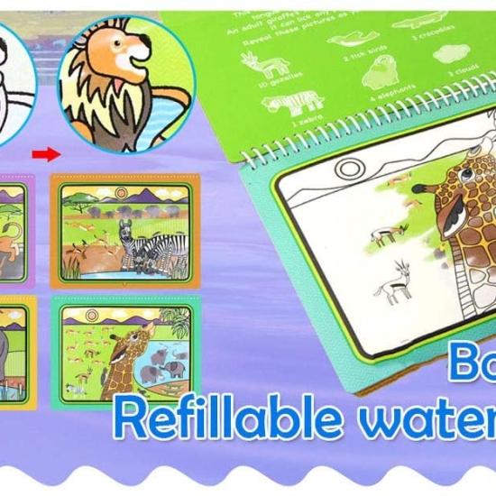 Carte de colorat cu Marker cu apa Cartea Magica