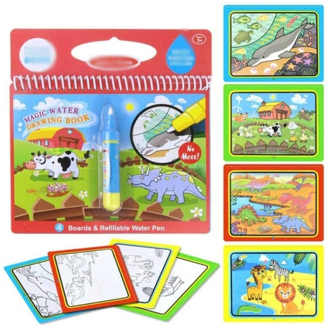 Carte de colorat cu Marker cu apa Cartea Magica2