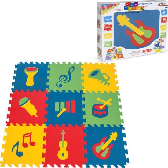 Covor puzzle din spuma instrumente muzicale 9pc Pilsan