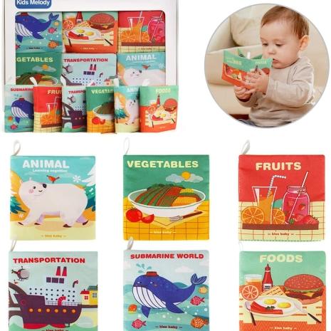 Jucarie Carti textile educationale copii 6pc/set