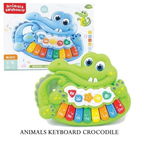 Pian de jucarie bebe cu lumini si muzica Crocodil